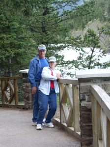 My wife Lesa and I along the Bow River