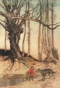 "Arthur Rackham's 1909 illustration for ""The Fairy Tales of the Brothers Grimm"""