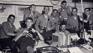 USS Ranger Public Affairs Office on the 03 level. I am second from the right.