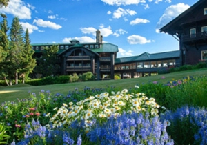 Tippet worked in an office in the lower level of Glacier Park Lodge at East Glacier, MT.