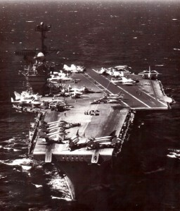 USS Ranger at sea in 1968 - US Navy Photo, cleared for publication