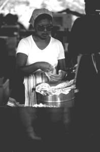 Seminole fry bread preparation at the 1983 Florida Folk Festival - State Archives of Florida, Florida Memory