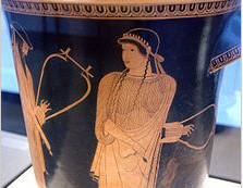Sappho on a vase found years ago in an attic.