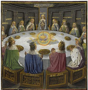 Vision of the Holy Grail at the Round Table.