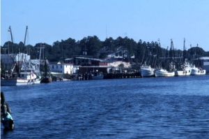 Carrabelle waterfront as it looked in the 1960s. - Photo from the Florida Memory Project.