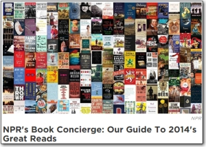 I know NPR and other media outlets mean well with their lists of a year's best books, but I don't take those ideas a gospel.